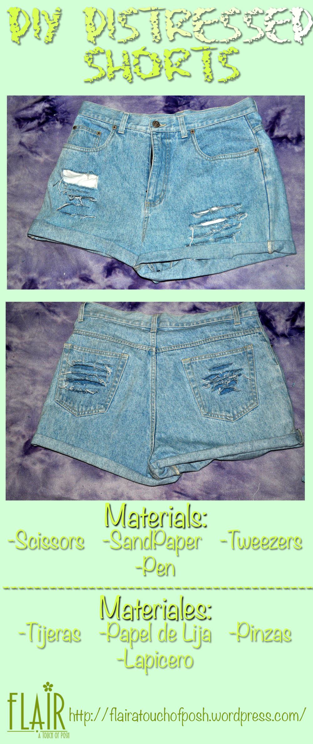 DIY Distressed Shorts