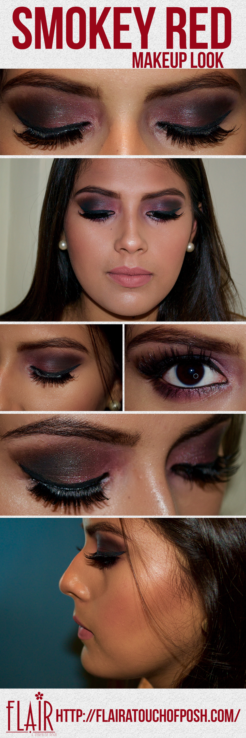 Smokey Red Makeup Look