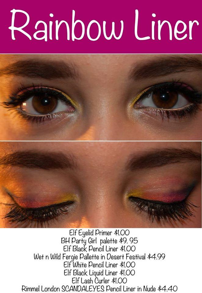 Rainbow Eyeliner Tutorial