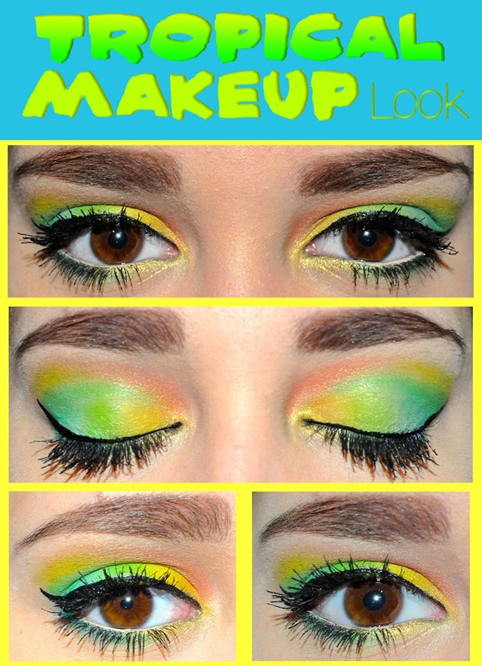 Tropical Makeup Look
